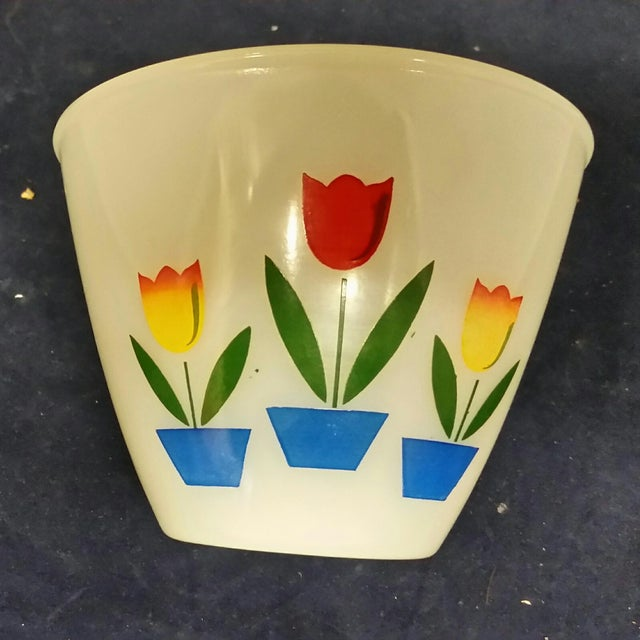 Vintage Fire King Tulip Mixing Bowls - a Pair For Sale - Image 9 of 13