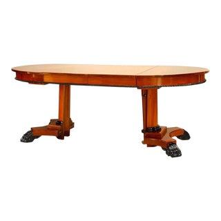 Austiran Biedermeier Mahogany Round Dining Table For Sale