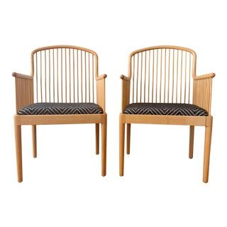 1980s Vintage Stendig Andover Minimalist Arm Chairs- A Pair For Sale