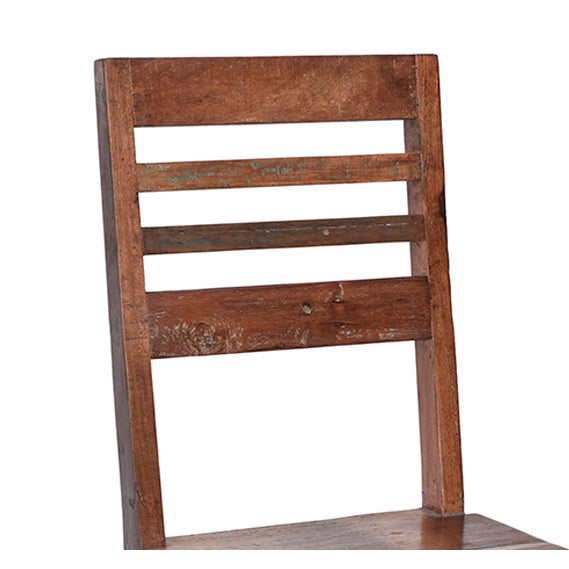 Reclaimed teak dining chair chairish Where can i buy reclaimed wood near me