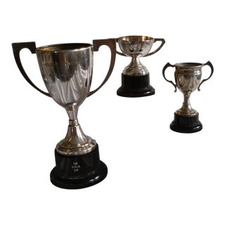 Silver Plated Dance Trophies - Set of 3 For Sale