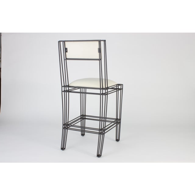 Black Iron Counter Height Stools - Set of 4 - Image 3 of 3