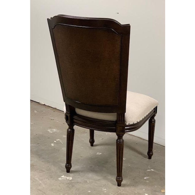 French Universal Furniture Woven Accent Side Chair For Sale - Image 3 of 6