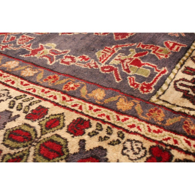 Textile Vintage Turkish Red Rug For Sale - Image 7 of 9