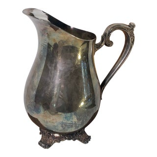 Vintage WM Rodgers Silver Plated Water Pitcher For Sale