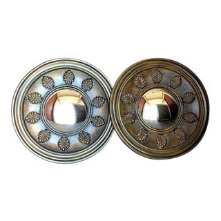 Tuscan Style Round Convex Mirrors - a Pair