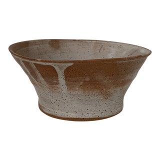 Vintage Handmade Earthenware Vessel For Sale