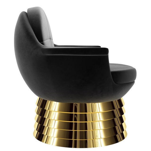 Iris Lounge Chair by Artist Troy Smith - Contemporary Design The Iris Lounge Chair was named after the human eye. When you...