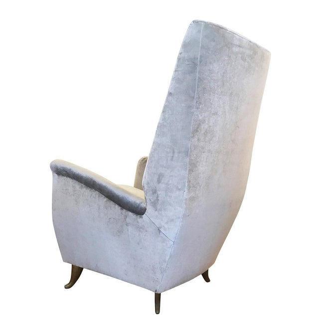 Gio Ponti ISA Armchair Attributed to Gio Ponti For Sale - Image 4 of 5