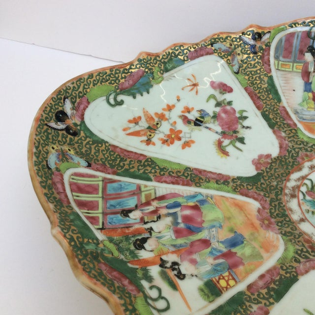 Chinese Canton Famille Rose Serving Platter - Image 6 of 11