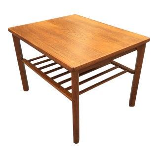 Vintage Mid Century Toften Danish Teak Coffee Side Table For Sale