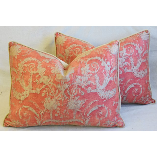"""Italian Fortuny Festoni Feather/Down Pillows 24"""" X 18"""" - Pair For Sale - Image 12 of 13"""