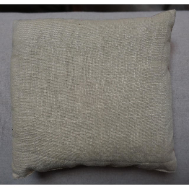 Custom lavender filled sachet made with antique floral cotton front and neutral linen back.