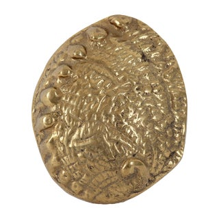 Brass Oyster Shell Paperweight For Sale