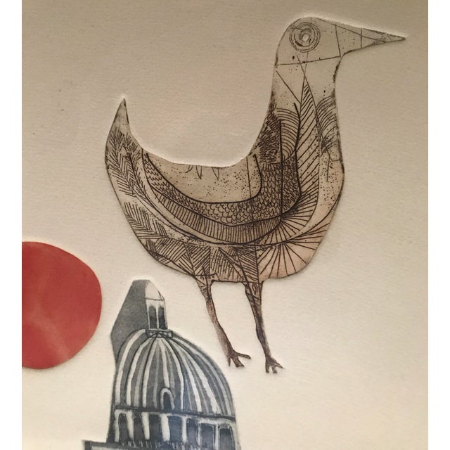 """Alec Cowan """"Cathedral"""" Block Print For Sale In Los Angeles - Image 6 of 11"""