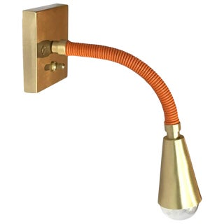 Meander Single Sconce, Custom Leather Colors For Sale