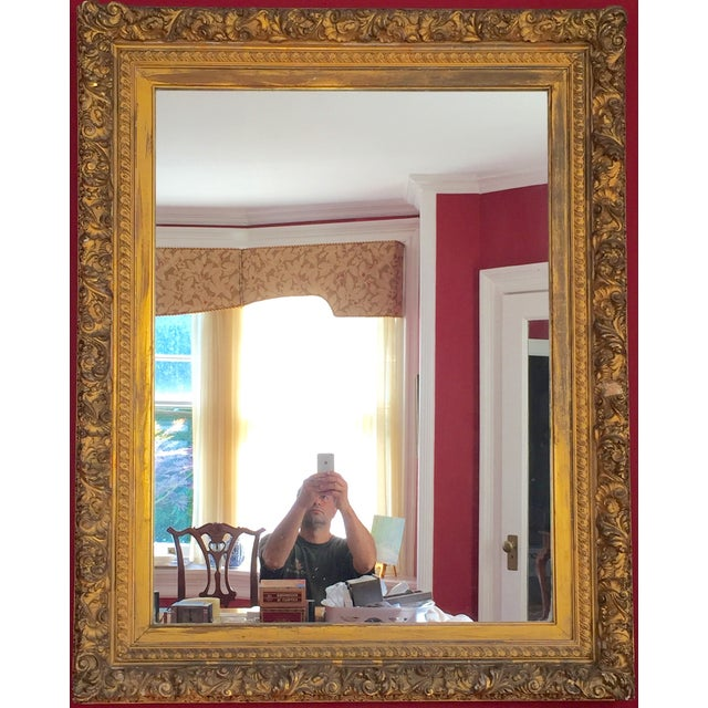 19th Century Grand Carved Gesso Frame Mirror - Image 2 of 5