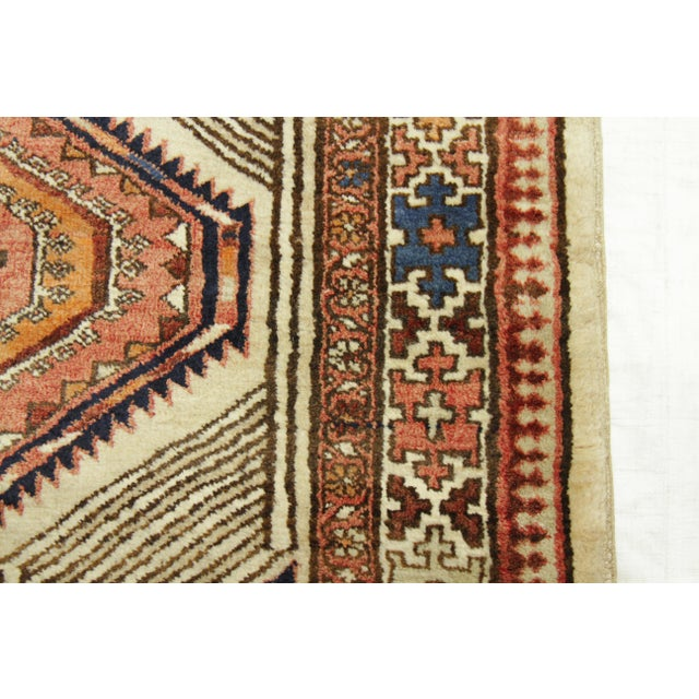 White Antique Persian Sarab Rug With Incredibly Detailed Tribal Design - 3′9″ × 15′4″ For Sale - Image 8 of 11