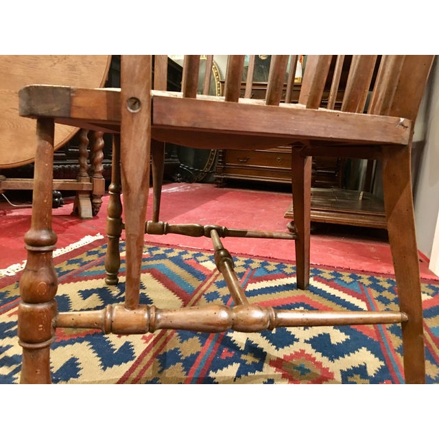 Austrian Walnut Barrel Back Wing Chair For Sale - Image 6 of 9