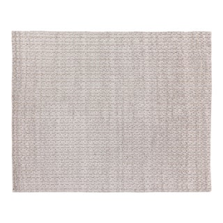 Exquisite Rugs Rothwell Hand Loom Bamboo Silk & Cotton Light Gray - 14'x18' For Sale