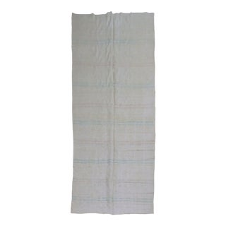 White Vintage Turkish Kilim, 5'6'' X 12'10'' For Sale