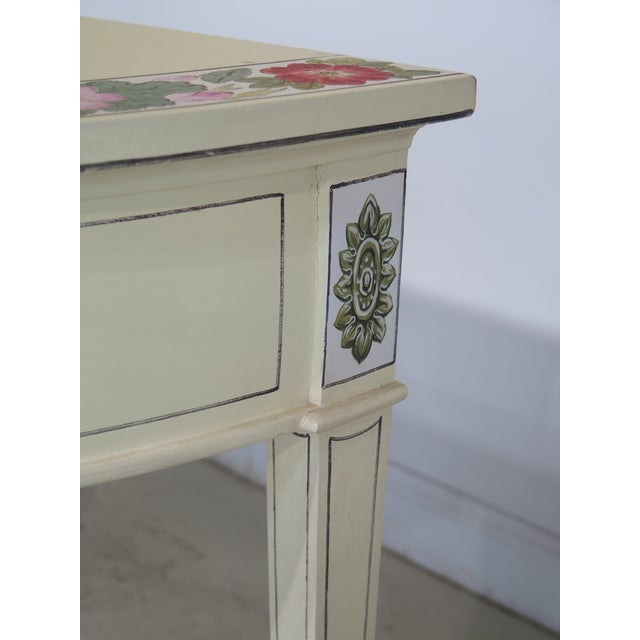 Adam Style Paint Decorated Demi-lune Console Table For Sale - Image 5 of 11
