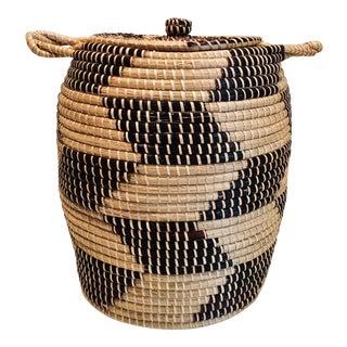 Ghanaian Handwoven Basket For Sale