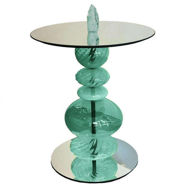 Modern Modern Abacus Verdigris Accent Table For Sale - Image 3 of 6