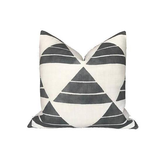 Not Yet Made - Made To Order Black Uroko Pillow Cover For Sale - Image 5 of 5