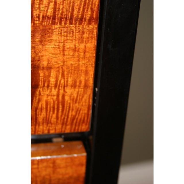Henredon Black Lacquer & Koa Wood Dressers - A Pair - Image 9 of 11