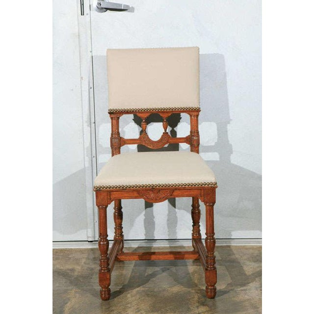Brown Dining Side Chairs - Set of 12 For Sale - Image 8 of 9