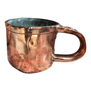Antique English Country Style Copper Pot For Sale
