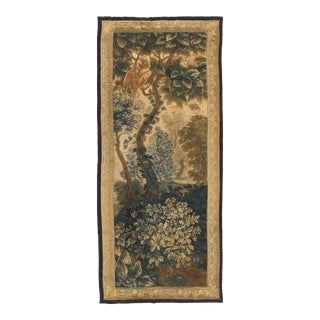 "17th Century Fine Brussels Tapestry, Silk Wool - 4'x9'2"" For Sale"