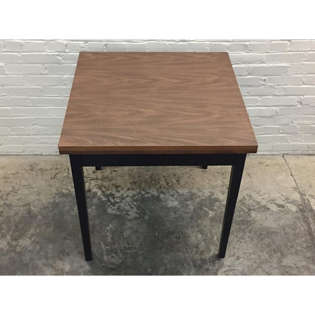 MidCentury Modern Folding Top DiningCard Table Chairish - Mid century modern card table