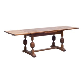 19th C. French Oak Draw-Leaf Dining Table/Console C.1850-1890 For Sale