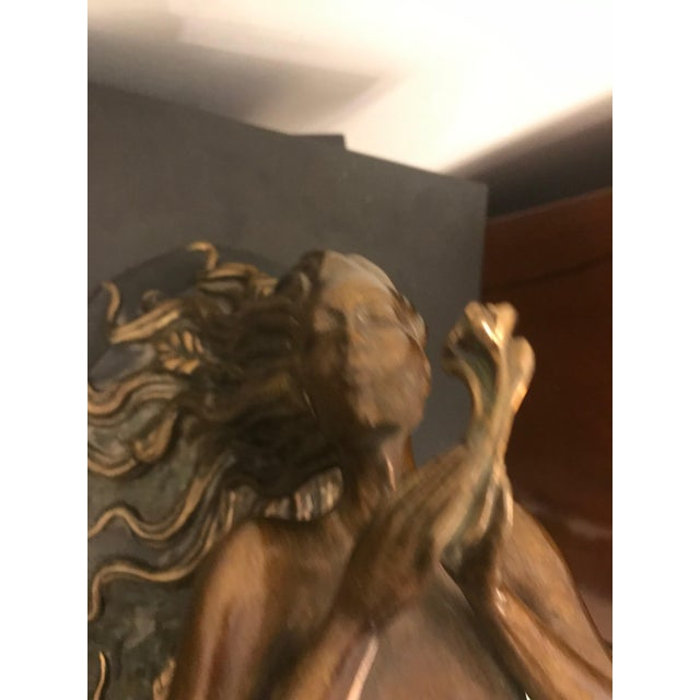 "Metal 1984 Erte Ltd Ed ""Perfume"" Bronze Sculpture by Romain De Tirtoff For Sale - Image 7 of 13"