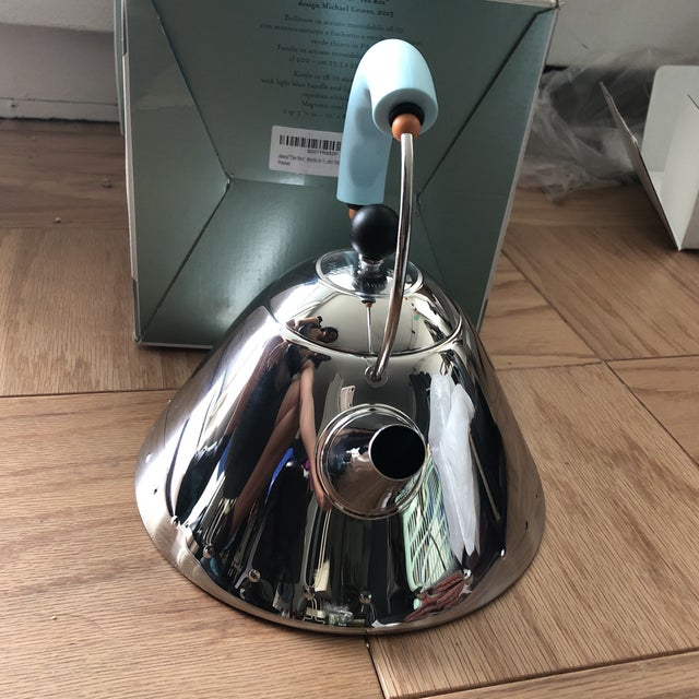 2010s Michael Graves for Alessi Tea Rex 30th Anniversary Tea Kettle For Sale - Image 5 of 9