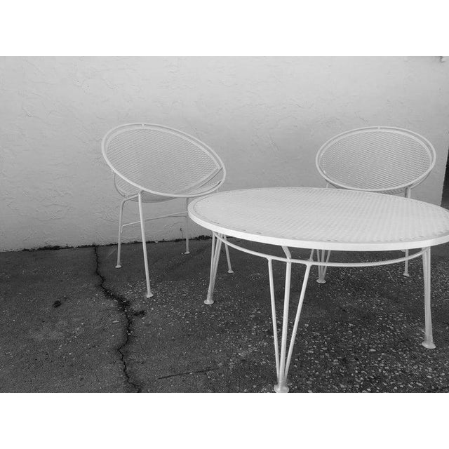 Tempestini Salterini 4 Radar Hoop Chairs and Cocktail Table - Set of 5 For Sale - Image 10 of 13