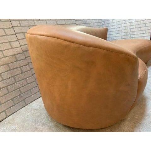 Mid Century Modern Vladimir Kagan Cloud Sofa and Nautilus Swivel Lounge Chair - 2 Piece Set For Sale - Image 9 of 11