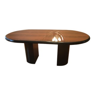 Art Deco Oval Dining Table Set, Includes 6 Chairs For Sale