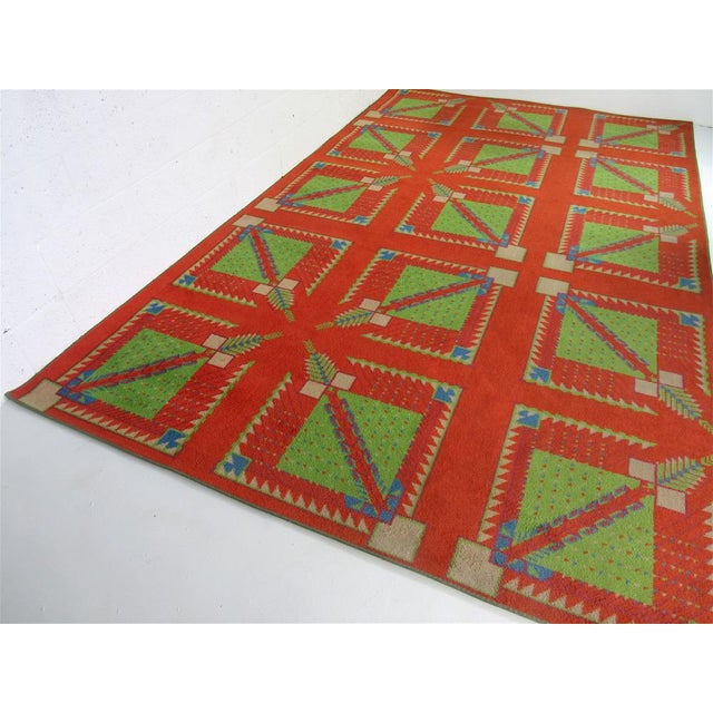 1970s Frank Lloyd Wright Designed Rug for Az Biltmore by Albert Chase McArthur For Sale - Image 5 of 8