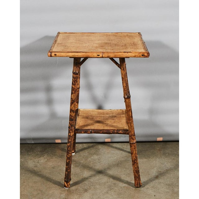 Traditional Tiger Bamboo Table For Sale - Image 3 of 6