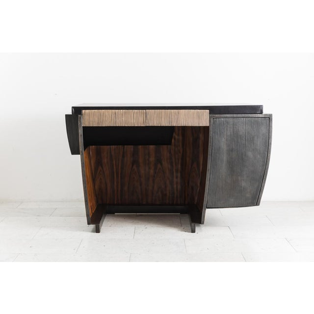 Blackened Steel and Layered Bronze Desk, Usa, 2019 For Sale In New York - Image 6 of 13
