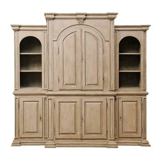 Vintage Brazilian Painted Wood Cabinet For Sale