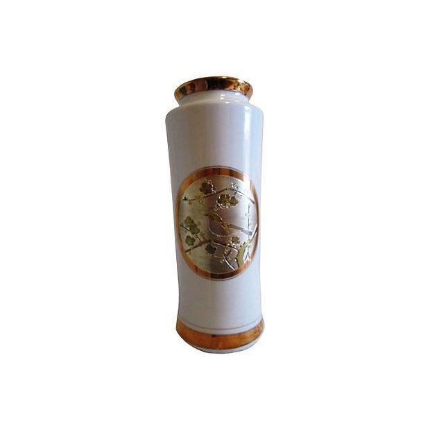 Midcentury 24k Japanese Chokin Porcelain Vase - Image 1 of 5