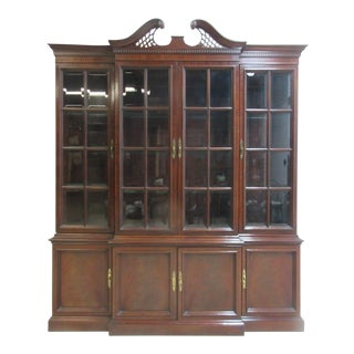 Hickory Chair Co. Mahogany Chippendale China Cabinet