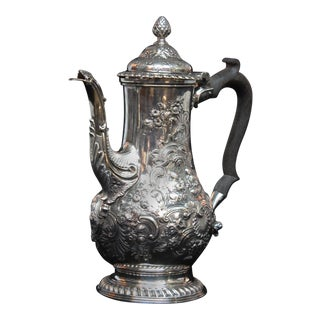Georgian Sterling Silver Coffee Pot by Benjamin Gignac For Sale
