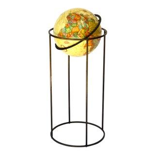 Paul McCobb Replogle Globe on Brass Stand For Sale