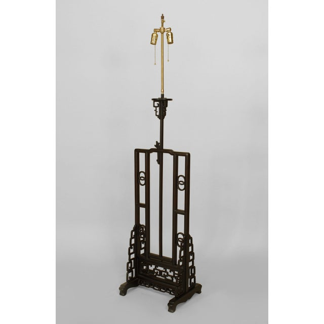 Asian Chinese Hardwood Floor Lamp For Sale - Image 9 of 9