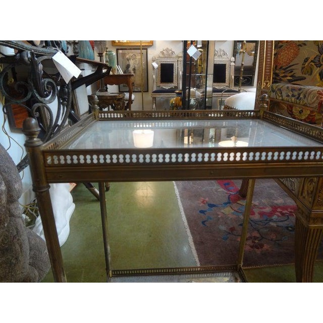 1940's French Maison Bagues Attributed Bronze Table For Sale - Image 10 of 13